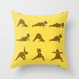 Yoga Bear - Classic Throw Pillow