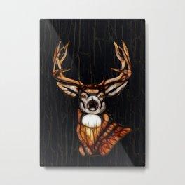 Rustic Wooden Deer Metal Print