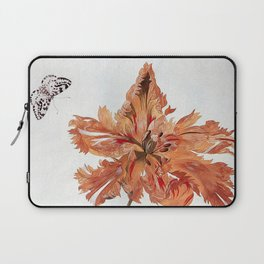 A Parrot Tulip Auriculas & Red Currants with a Magpie Moth Caterpillar Pupa by Maria Sibylla Merian Laptop Sleeve