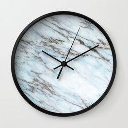Aqua, Azure, and Heather-Gray Marble Wall Clock