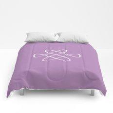 Infinity Knot in Purple - Minimal FS - by Friztin Comforters