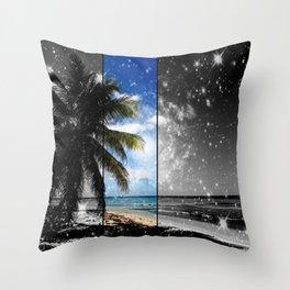 Caribbean Dreaming - digital artwork tribute to Isla Saona in the Dominican Republic Throw Pillow