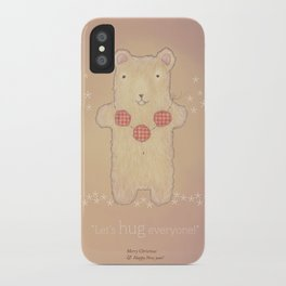 Christmas creatures- The Loving Bear iPhone Case