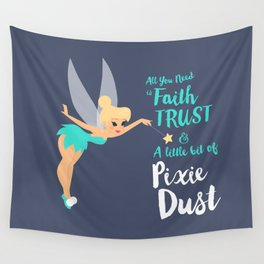 Tinker Bell | Peter Pan's quote Wall Tapestry