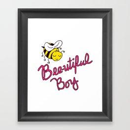 Bee-utiful Boy Framed Art Print