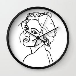 Woman's face line drawing - Adena Wall Clock