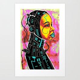 BLK SCI-FI 3 Art Print