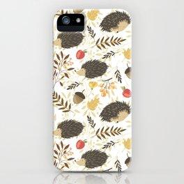 Cute hedgehogs iPhone Case