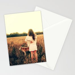 Girl and Dog Wish Stationery Cards