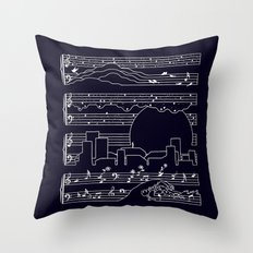 The Moonlight Sonata Throw Pillow