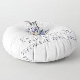 Alice floral designs - I'm not crazy Floor Pillow