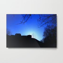 Castle Ruins under the Fading Sun Metal Print