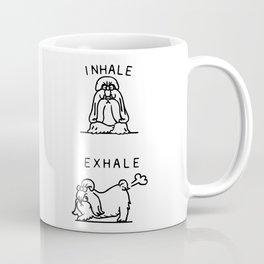 Inhale Exhale Shih Tzu Coffee Mug