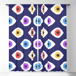Lucky Eyes Vintage Pattern Blackout Curtain