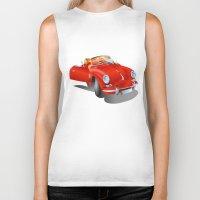 porsche Biker Tanks featuring Porsche by Paola Canti