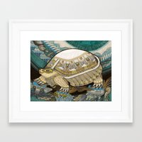 turtle Framed Art Prints featuring Turtle by Yuliya