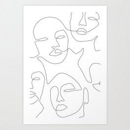 Line Community Art Print