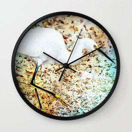 Gulf Coast Snowy Egret Wall Clock