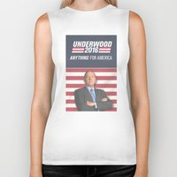 house of cards Biker Tanks featuring House of Cards / Campaign Poster II by Earl of Grey
