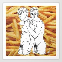 Fries Buddies Art Print