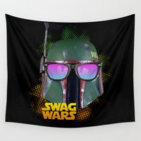 boba Wall Tapestries featuring Boba Fett by Heretic