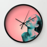 lightning Wall Clocks featuring Lightning by Grace Teaney Art
