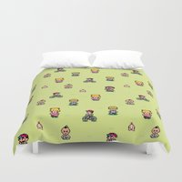 earthbound Duvet Covers featuring Earthbound - Mother 2 by Nikki White