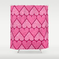 hearts Shower Curtains featuring Hearts by Warwick Wonder Works