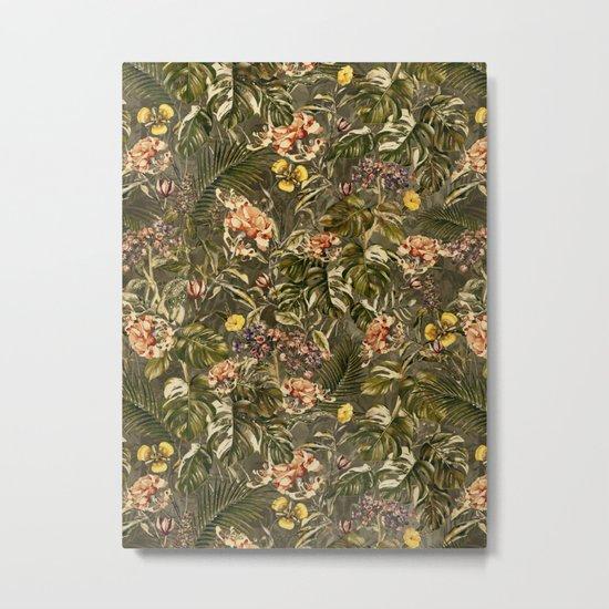 Tropical Camouflage Metal Print
