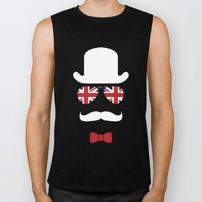 Union Jack Old Guy United Kingdom Flag Biker Tank