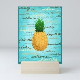 Aloha Pineapple! Mini Art Print