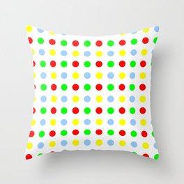 new polka dot 11 - multicolor Throw Pillow