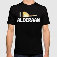 I Blew Up Alderaan Mens Fitted Tee Black SMALL
