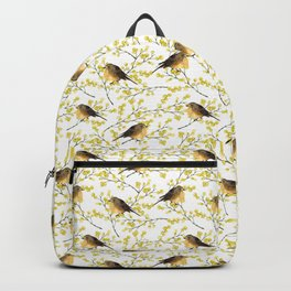 Mimosa and birds Backpack