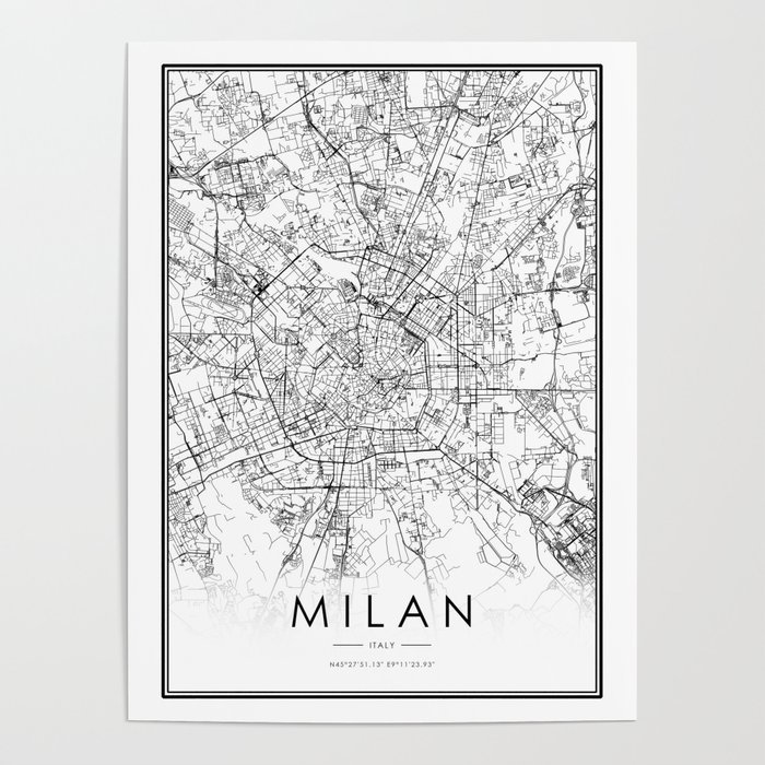 Milan City Map Italy White and Black Poster by victorialyu on city map of kahoolawe, city map of bolivia, city map of estonia, city map of the netherlands, city map of slovenia, city map of libya, city map of tanzania, city map of myanmar, city map of the carolinas, city map of bosnia and herzegovina, city map of kuwait, city map of slovakia, city map of antigua, city map of latin america, city map of aruba, city map of tuscany, city map of bahrain, city map of mesopotamia, city map of luxembourg, city map of holland,