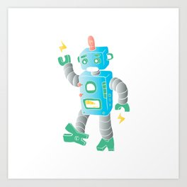 cartoon toy robot. Art Print