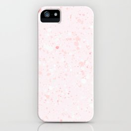 Soft Pink Bubbles Marble iPhone Case
