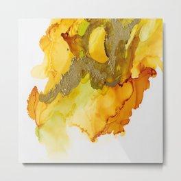 Gold Abstract 1 Metal Print