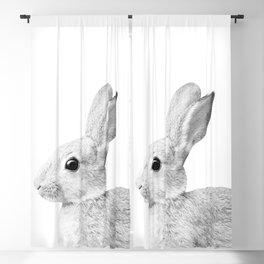 White Baby Bunny #1 #decor #art #society6 Blackout Curtain