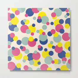 Classic Abstract Minimal Summer Style Dots Metal Print