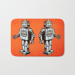 Retro Robot Toy Bath Mat