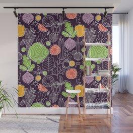 Vegetable Pattern Scandinavian Design Wall Mural