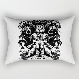 Fox McCloud Star Fox Inspired Geek Psychological Inkblot Rectangular Pillow