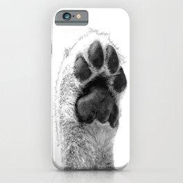 Black and White Dog Paw iPhone Case