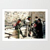religious Art Prints featuring Religious Wars by KattSnaps