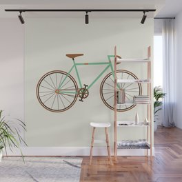 Green Fixie Wall Mural