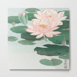 Ohara Koson - Water Lillies Metal Print