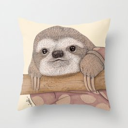 Slothy Throw Pillow