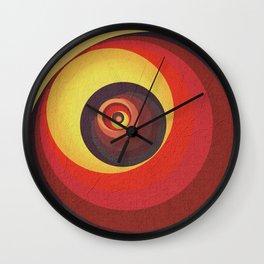 Flame Meditation on a Yellow Wall Wall Clock