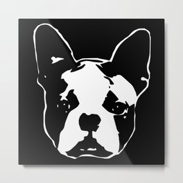 GIFTS FOR THE  BOSTON TERRIER DOG LOVER GIFT WRAPPED FOR YOU FROM MONOFACES Metal Print